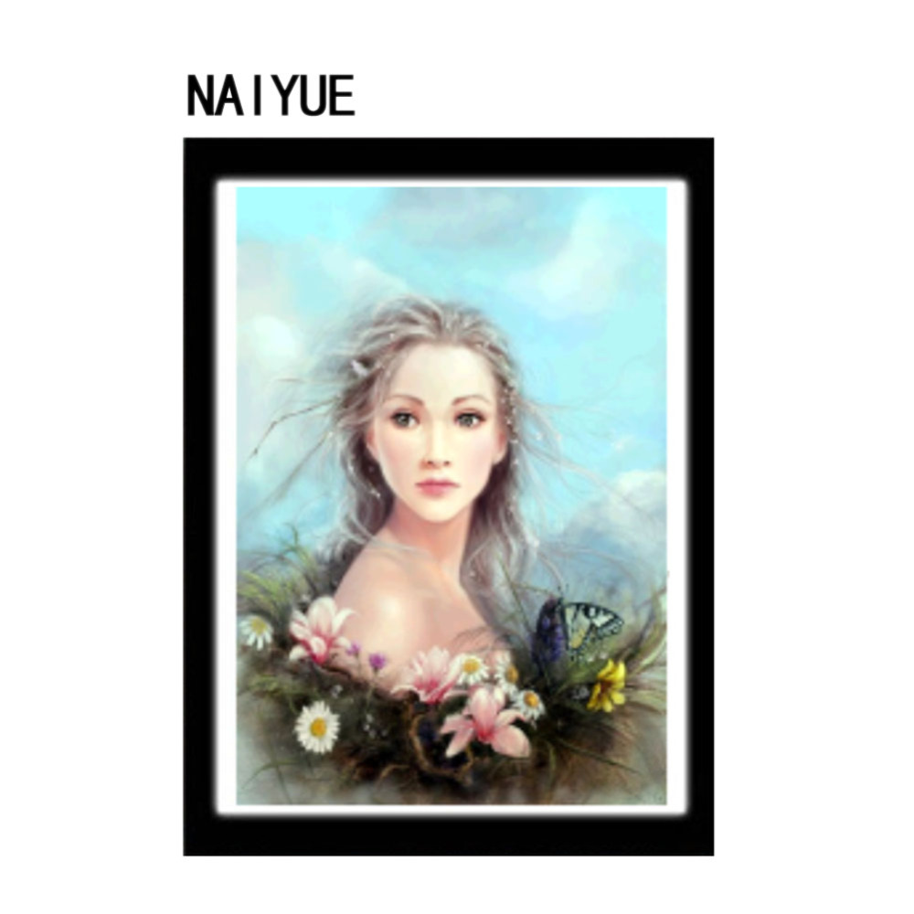NAIYUE Meian,Special Shaped,Diamond Embroidery,Girl,Women,Mask,5D,Diamond Painting,Cross Stitch,Girl Mosaic,Decoration