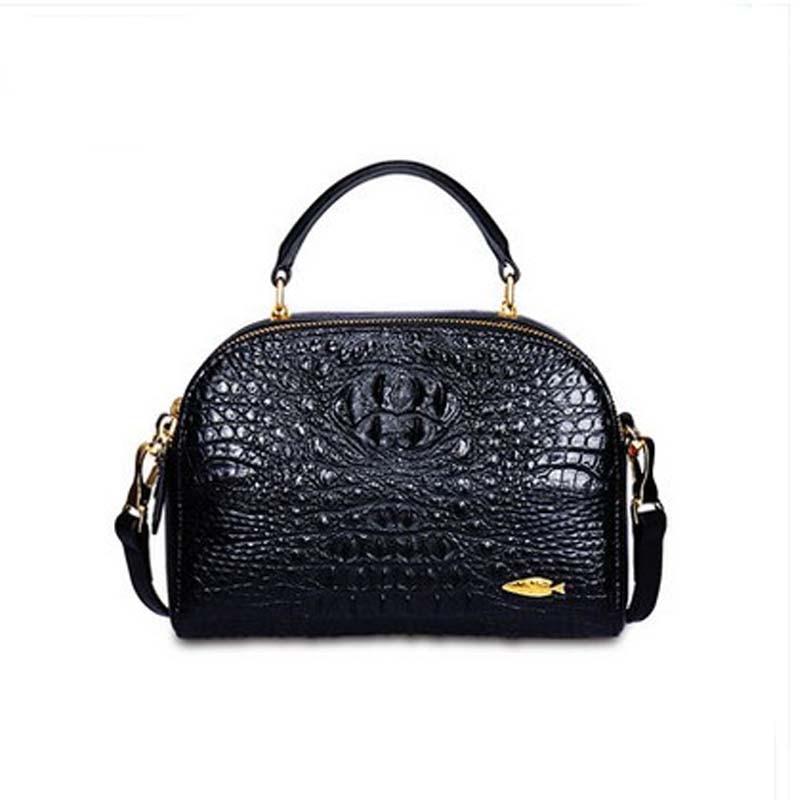 yuanyu 2018 new crocodile leather women handbag genuine leather handbag women shell bag yuanyu 2018 new hot free shipping import the real nile crocodile handbag big women handbag leather bag women shell bag