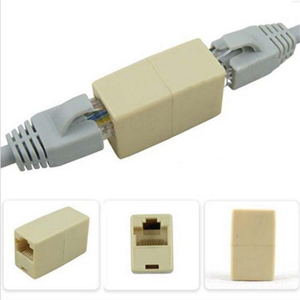 5Pcs/10Pcs Cat5 RJ45 Network Cable Extender Adapter Connector 3.5cm*1.5cm*2cm