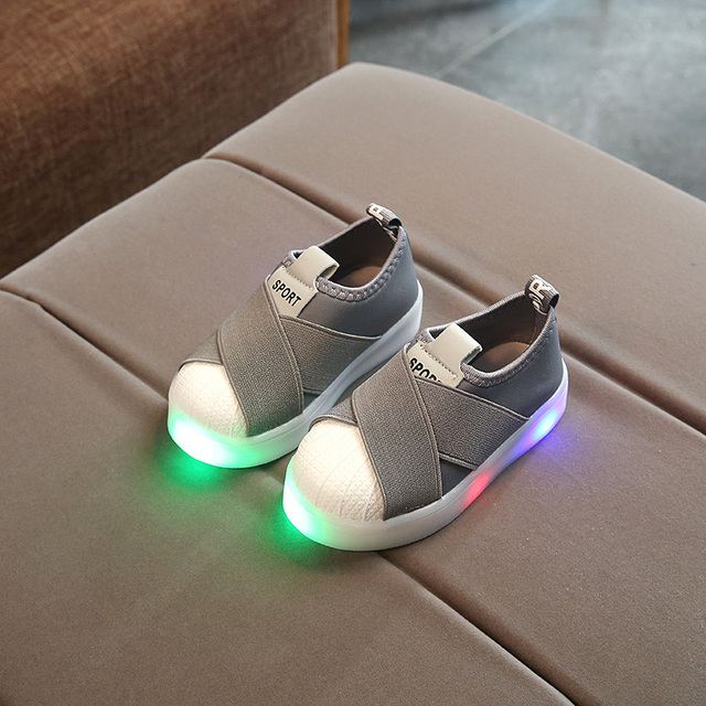 KKABBYII Kids LED Sneakers Breathable Children Sports Shoes For Baby Girls Boys Luminous Shoes with Light Size 21-30
