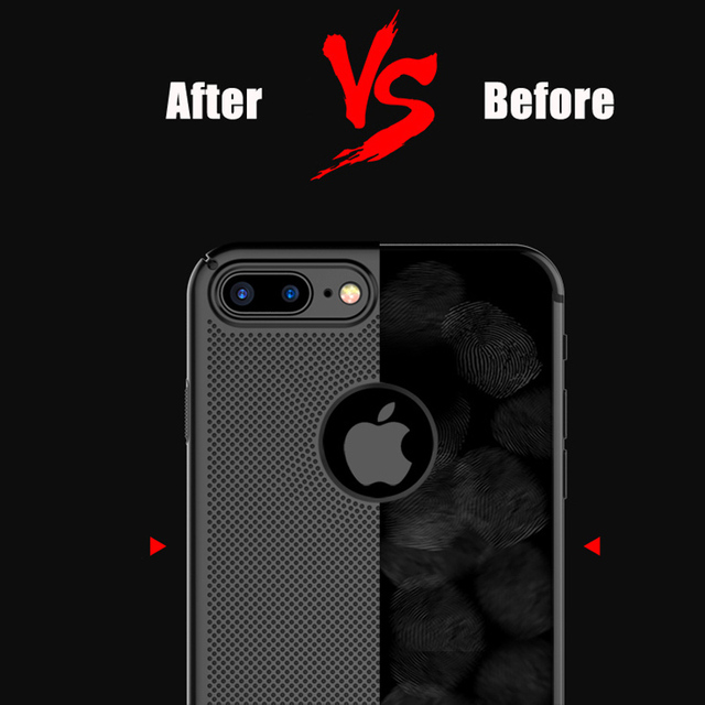 Ultra Slim Phone Case For iPhone 6 6s 7 8 Plus 5 5S SE Hollow Heat Dissipation Hard PC Cases For iPhone X XR XS MAX Back Cover 1
