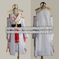 Online Game Kantai Collection KanColle Japanese Warship Kongou Haruna Kimono Coat Battle Cruiser Fleet Girls Cosplay