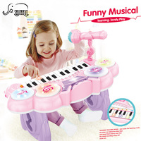 24 Key Kids Electronic Keyboard Electone Toy Electronic Piano Organ Musical Instrument Microphone Educational Girl Toys Children