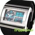 Irisshine i0022 homens relógios LED Digital Data Esporte de Borracha À Prova D' Água Dos Homens Boy Relógio de Pulso