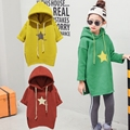 New fashion Girls Hoodies Clothes Children's thick Sweatshirts baby Fawn pattern Casual Kids Plus velvet Hoodies Tops Costume