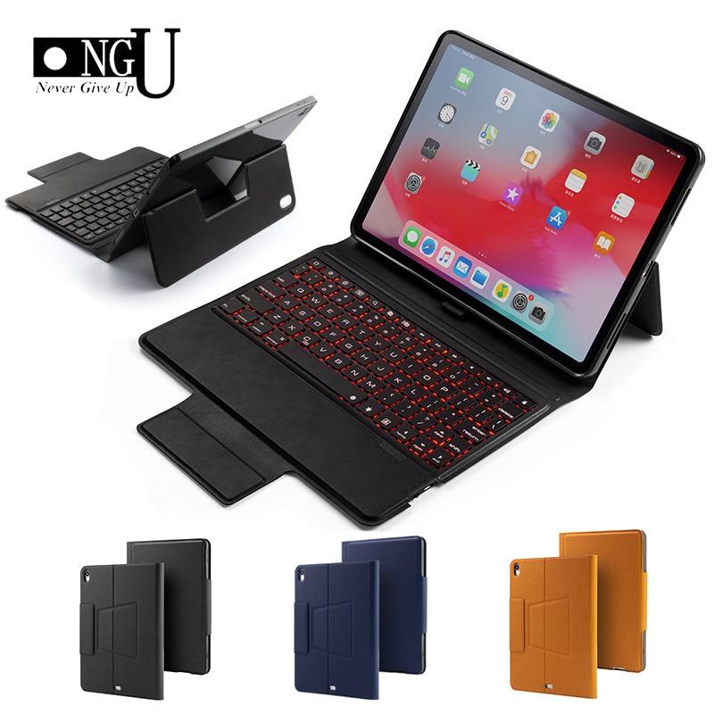 "Case de Teclado para o Ipad Backlight sem Fio Capa para Ipad Magro Inteligente 7 Cor Bluetooth Keyboard Case Air 3 10.5"" 10.5 Pro 2020"