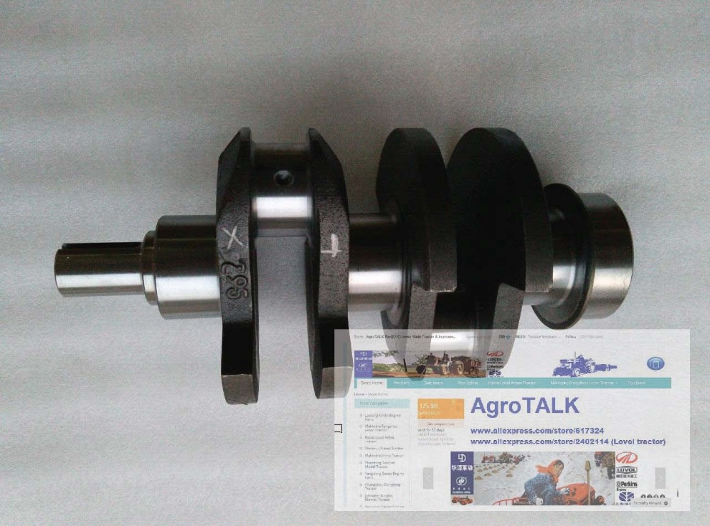 Shenniu tractor parts, the crankshaft of Shenniu 250 254 with engine HB295T, part number:295-05001-B hubei shenniu 254 tractor the set of brake shoes part number