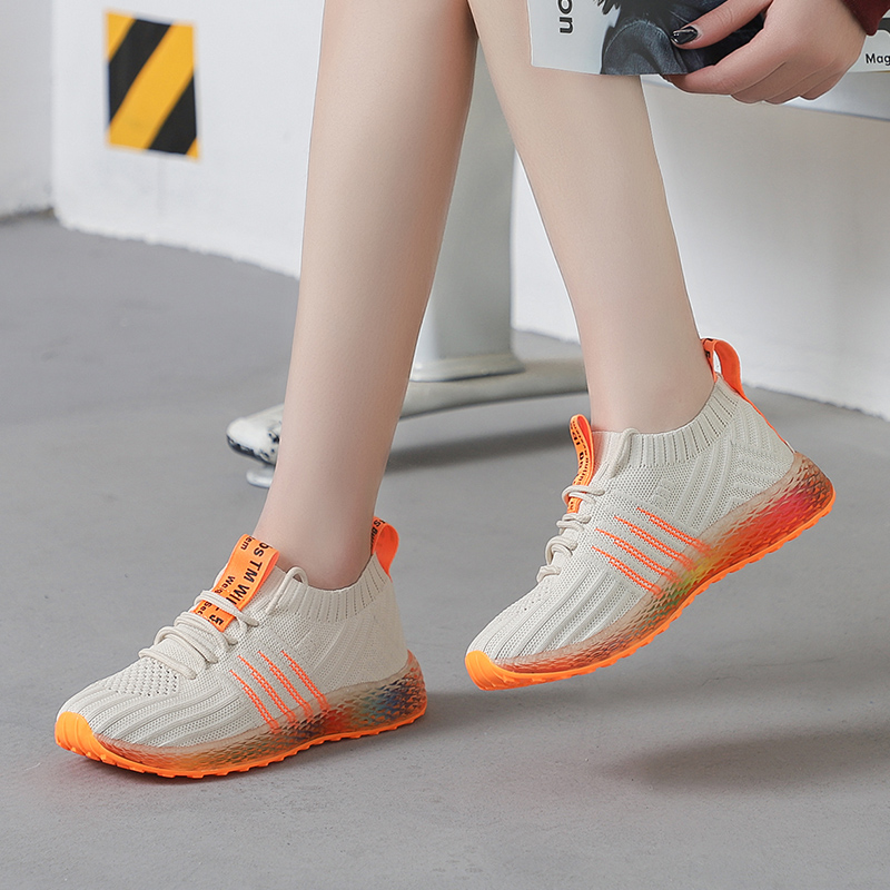 2019 Spring Autumn Breathable Non Slip Damping Shoes Women Sneakers Mixed Colors,Beige,36