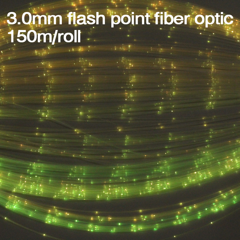 150m/roll High Quality 3.0mm Flash Point Pmma Plastic Fiber Optic End Glow For Diy Lighting Decoration Famous For Selected Materials, Novel Designs, Delightful Colors And Exquisite Workmanship