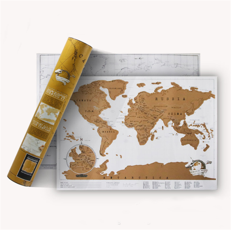 Scratch map of the world travel edition deluxe scratch off map scratch map of the world travel edition deluxe scratch off map personalized world map poster black traveler journal log gift in wall stickers from home gumiabroncs Choice Image