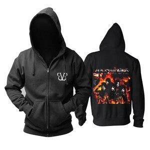 Image 2 - Bloodhoof ブラックベール花嫁バンドポストハードコアロックミュージックデスメタル黒綿パーカーアジアサイズ