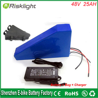 Free Bag 1000 Times Cycle 1000w Electric Bike Lithium Ion Battery 48v 20ah Charger Battery Lithium
