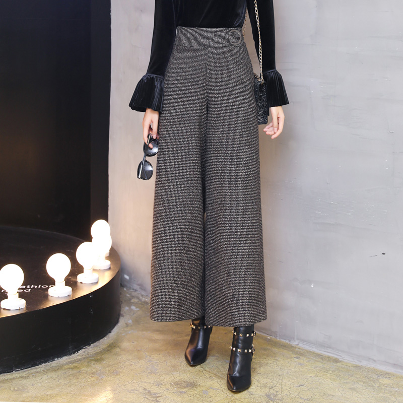 Sueltos De Desgaste Alta Invierno Nueva Grey Cintura Lana Oficina Tobillo 2019 Pantalones Trabajo Longitud Mujeres Señora Llegada Pierna Cálido La 7qFPw1