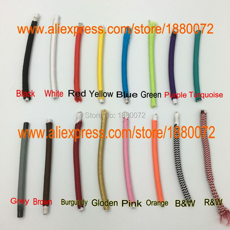 Colored TWIST Braided Fabric Cable Lighting Lamp Flex cord wire ...