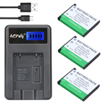 3 unids LI-40B LI-42B LI 40B LI 42B LI42B Batería + Cargador USB LCD para olympus para fujifilm fuji np 45 np45 np-45 np 45a 45b 45 s