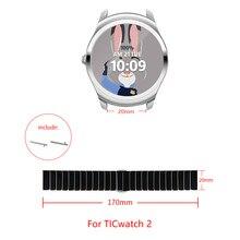 Para TICwatch 2 Cerâmica strap Compatível largura de banda 20 milímetros assistir fivela Dobrável alça de tamanho ajustável Para TICwatch 2
