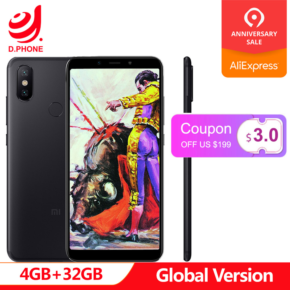 Global Version Xiaomi Mi A2 MiA2 4GB RAM 32GB ROM Mobile Phone Snapdragon 660 Octa Core 5.99 19:9 Full Screen 20MP Dual Camera