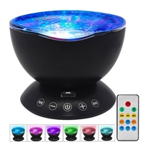 Remote Control Star Sky Aurora LED Night Light Projector Cosmos Star Illusion Night Light with Alarm clock
