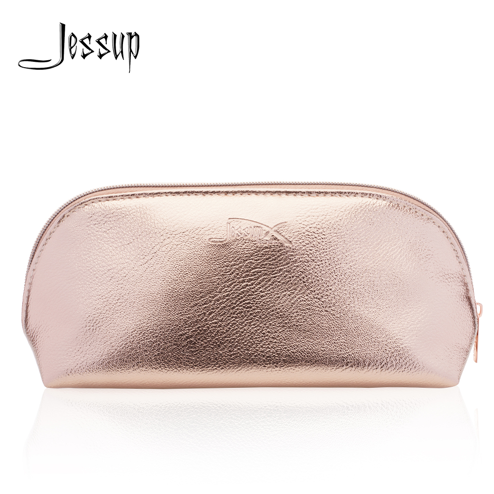 Jessup Golden Cosmetic bag set for Makeup accessories Women bags Make up tools Travel beauty case CB009