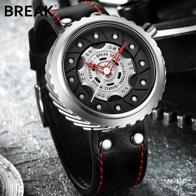 BREAK Luxury Brand Men Crazy Speed Sports Watches Man Rubber Strap Casual Fashion Geek Creative Gift Analog Quartz Wristwatch 4