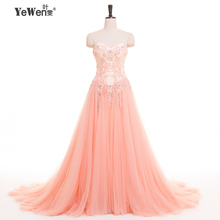 YEWEN Women Strapless Embroidery Evening Dress Prom dresses