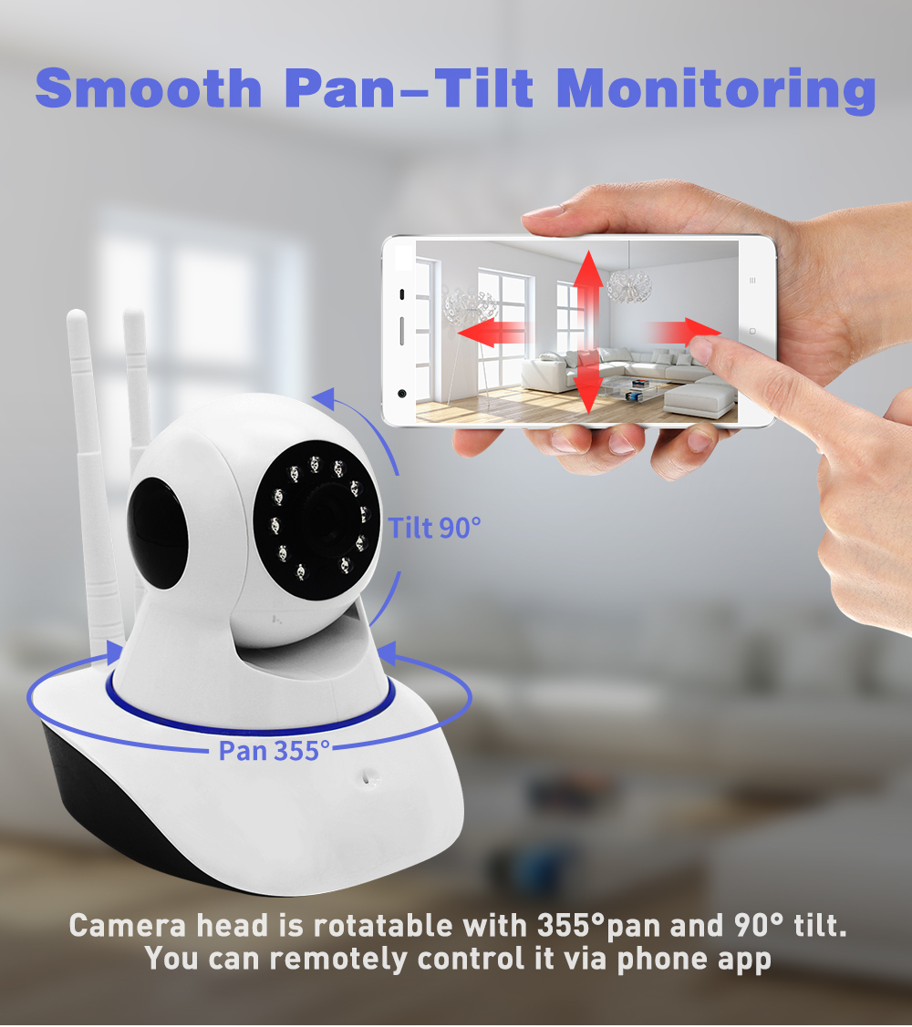 1080P Home Security IP Camera Wi-Fi Wireless Mini Network Camera Surveillance Wifi 2MP Night Vision CCTV Camera Baby Monitor Cam