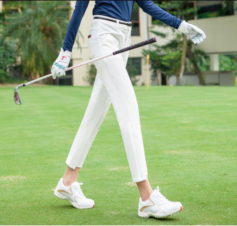 luvas de golfe das mulheres calças Capris