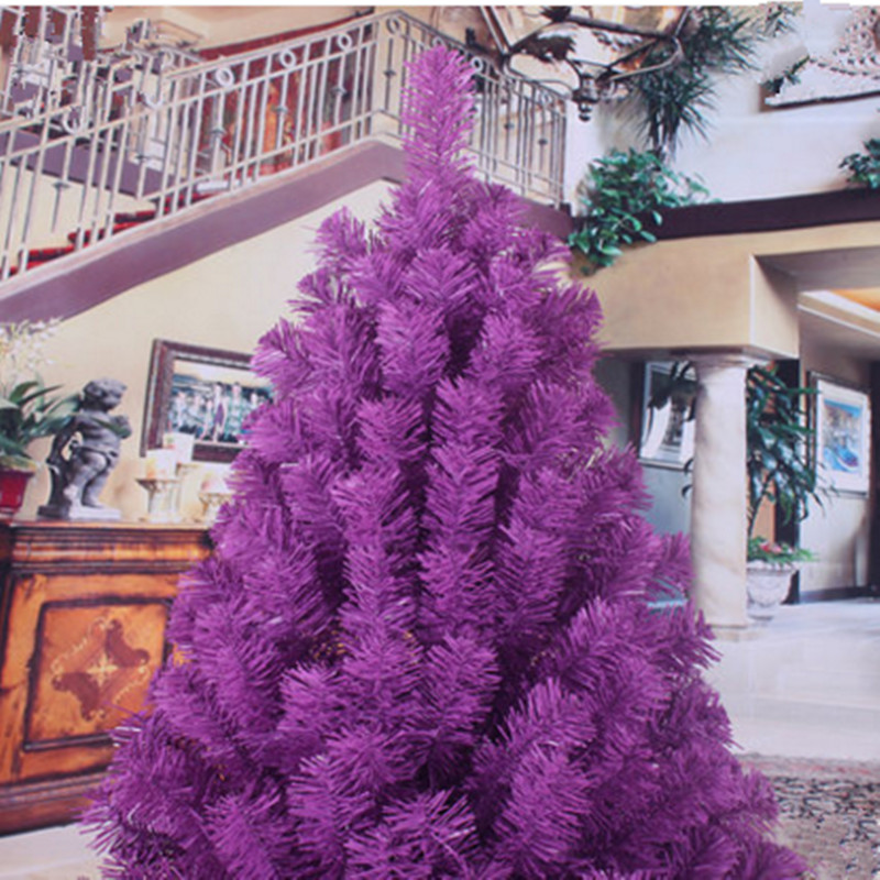 18 m 180cm encryption pvc environmentally friendly material purple christmas tree decorations christmas hotel in christmas from home garden on