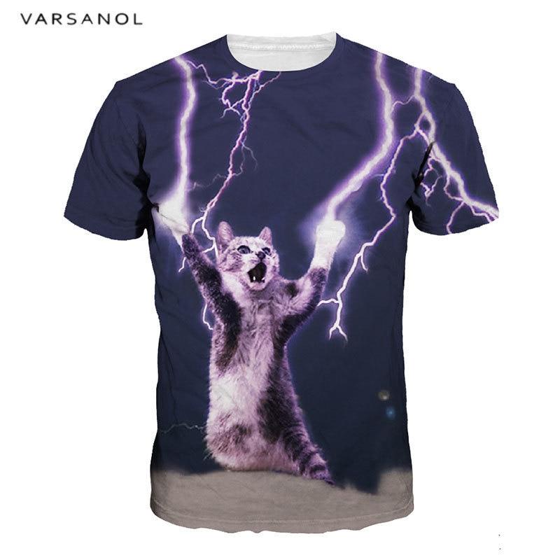 Varsanol Summer 3D Print Men's Tees Fashion T-Shirts