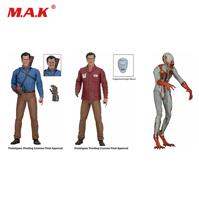23CM 3PCS/SET Original Ash vs The Evil Dead Ash Williams+Eligos goblin hero ash Action Figures Set neca the evil dead ash vs evil dead ash williams eligos pvc action figure collectible model toy 18cm kt3427
