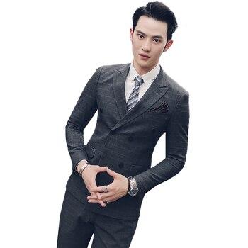 new Suits Men's suits gentleman three-piece suit 68 polyester cotton spandex SJT49 3 29 - P300