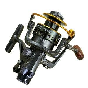 Image 2 - New Double Brake  Fishing Reel катушка для спининга Super Carp Fishing Feeder Spinning Reel Spinning wheel type fishing wheel MG