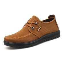 2019 Men Shoes Suede Leather Shoes Men Casual Loafers Shoes Men Slip Flats Male Shoes Soft Breathable Moccasins Men Footwear цена