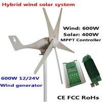 600W Wind Generator MAX 830W Wind Turbine 1000W MPPT Hybrid Charge Controller For 600W Wind Turbine