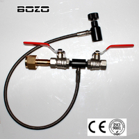 pcp airsoft airgun Deluxe Dual Valve CO2 Fill Station Stianless Steel Braided hose 24 paintball US CGA 320
