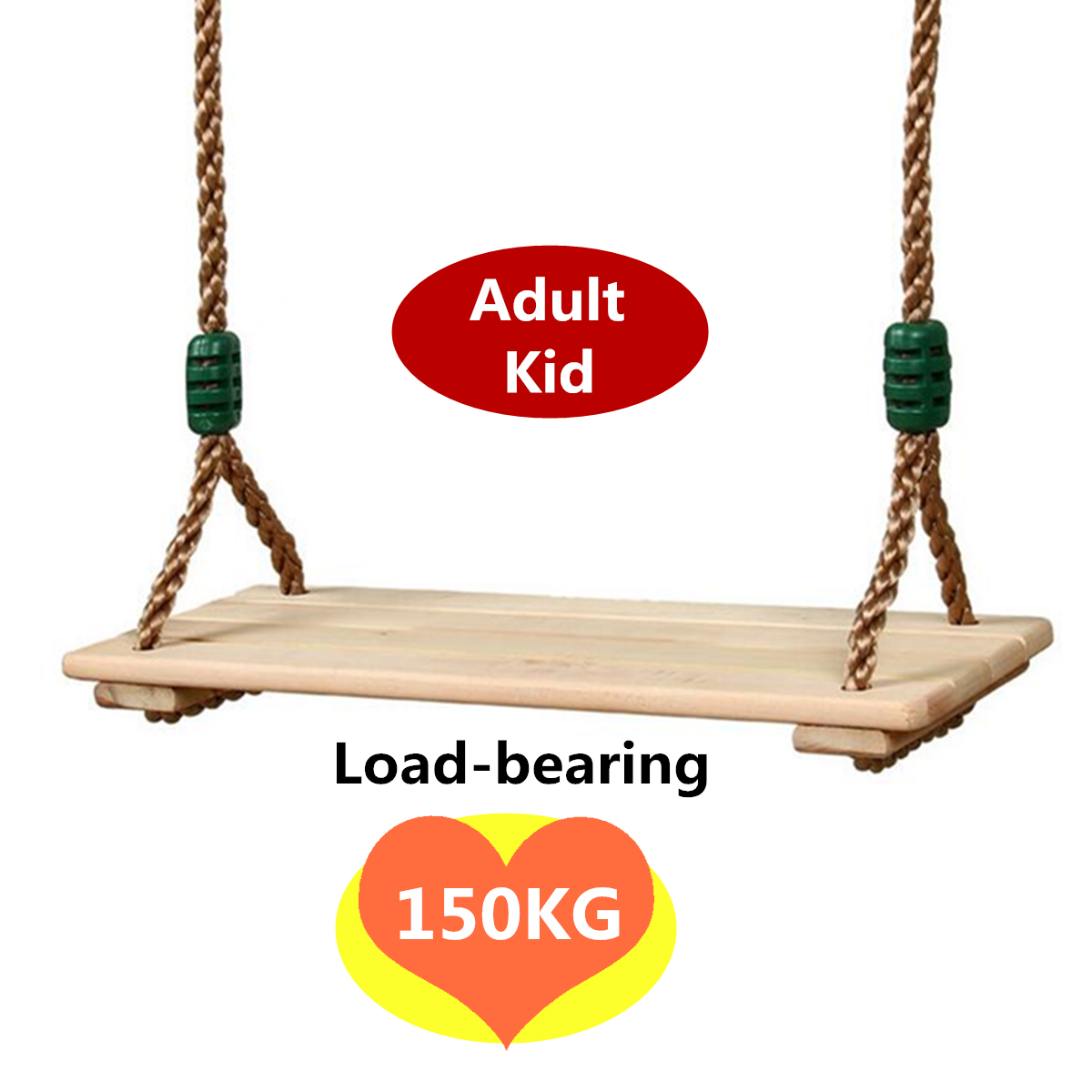 Us 18 68 52 Off Adults And Children Swing Wooden Toy Swing With Rope Toys Kids Indoor Outdoor Playhouse Wooden Children Outdoor Garden Swings In Toy