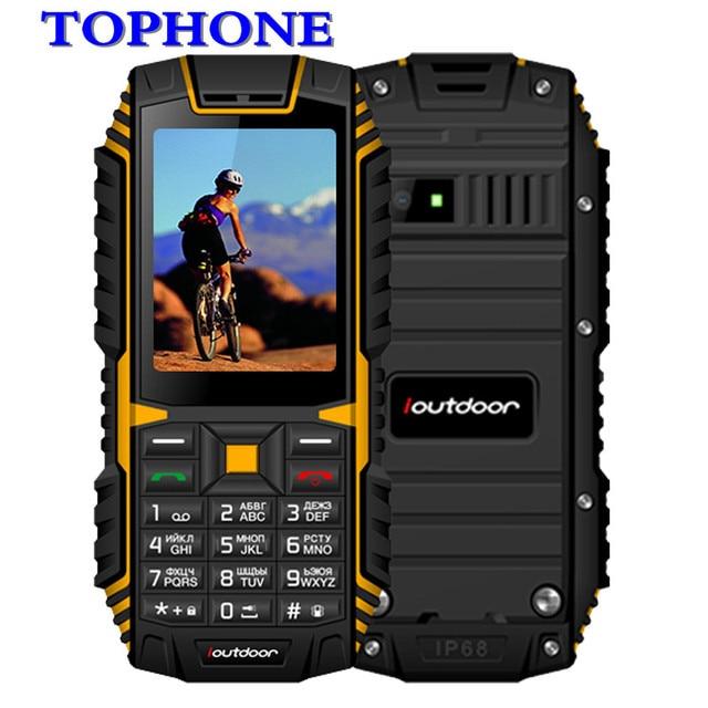 2018 original ioutdoor T1 IP68 Waterproof cellPhone 2.4Inch 128M+32M 2MP FM MP3 2100mAh Rugged Shockproof Dustproof Mobile Phone