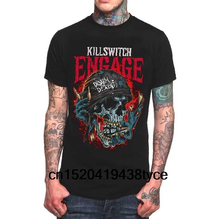 Men's Fashion T-Shirt  Killswitch Engage  Disarm The Descent Punk Rock Short Sleeve T Shirts Casual Summer  Dress Printed Tops