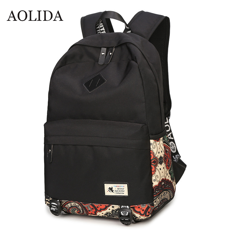 Canvas Women Backpacks Printing Backpack 2017 Luxury Brand 15.6 Laptop Fashion Travel Woman School Bag Backpack Large Capacity