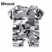 Kimocat Baby Boy Clothes Baby Girl Romper Short Sleeve ArmyGreen Unisex Cotton Summer Short Girl Romper Jumpsuit Newborn Clothes цена 2017