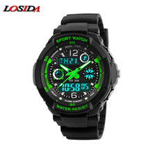 Losida Luxury Brand G Rubber Strap Shock Watch Military Army Blue LED Pointer Waterproof Men Sports Watches Clock relogio Male