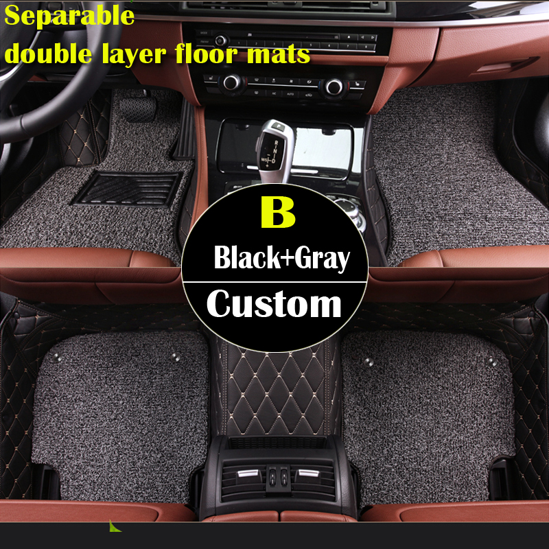 double layer custom car floor mats for for Toyota All Models Corolla Camry Rav4 Auris Prius Yalis Avensis 3Dcarpet floor liner наклейки digiface toyota hilux vitz rav4 camry prius