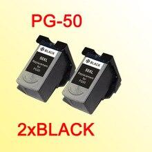 2x PG-50 картридж совместимый для canon pg50 pg 50 MP150 MP160 MP170 MP180 MP450 MP460 MX300 MX310