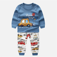 Children Clothing Sets Outfit Costume for Kids Sport Suit 2019 Autumn Toddler Girls Clothes Tracksuits for Girls Clothing Sets cheap Unini-yun Fashion Full cartoon O-Neck REGULAR Fits true to size take your normal size Pullover 8-12 5 Coat COTTON Boys