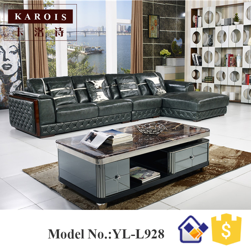 germany living room leather sofa with wooden curve,poltrona para ...