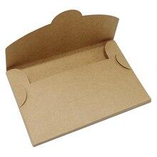 Caja de almacenamiento de tarjetas postales de papel Kraft clásico, marrón, plegable, foto, tarjeta de felicitación, paquete de cajas de cartón, 30 unids/lote
