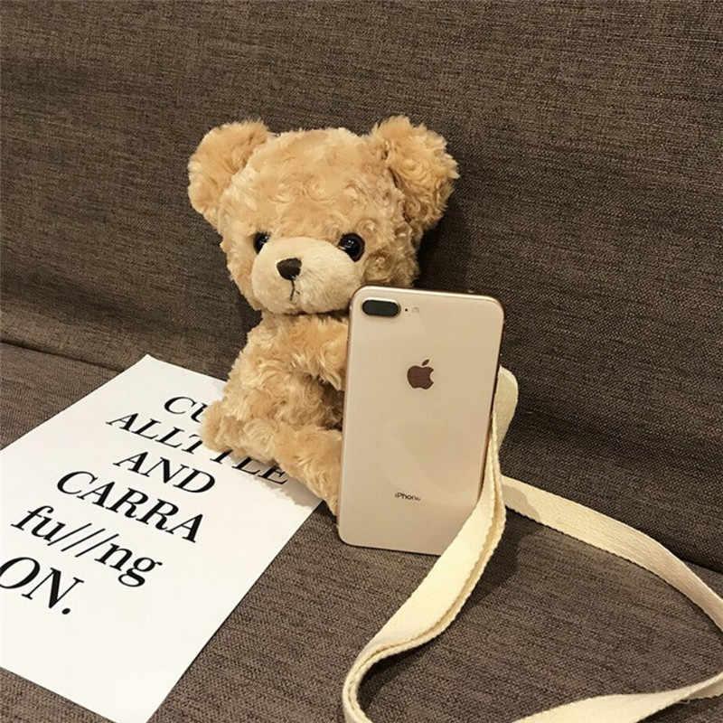 NOENNAME_NULL милые девушки милая улыбка медведь мягкая плюшевая кукла Лолита сумка животное сумка на плечо