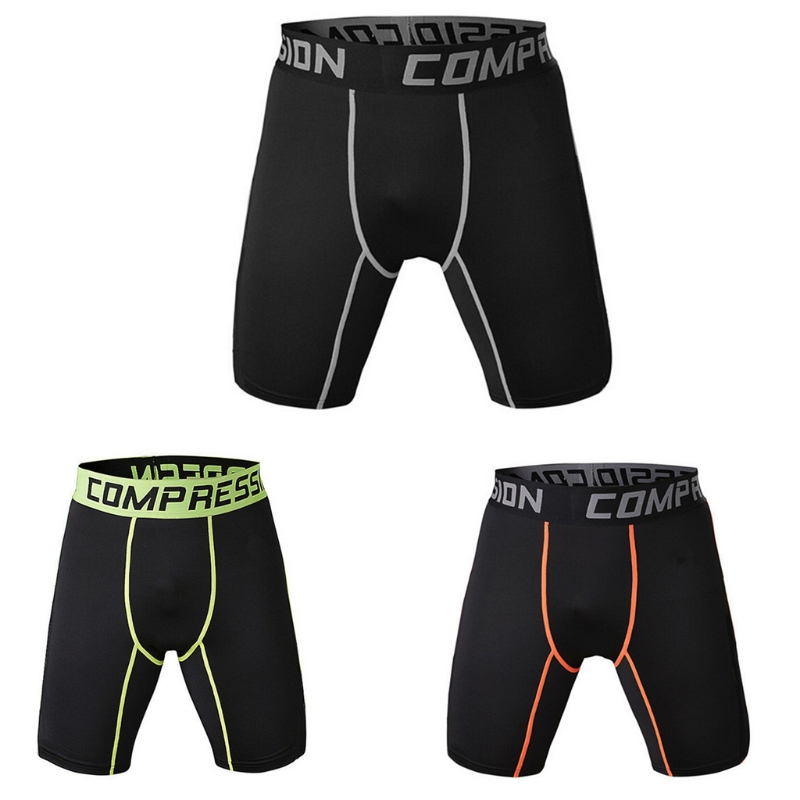 2018 New Brand Causal Men's Shorts Compression Polyester Sporting Beaching Wear Under Base Layer Shorts Men Tights Big Size