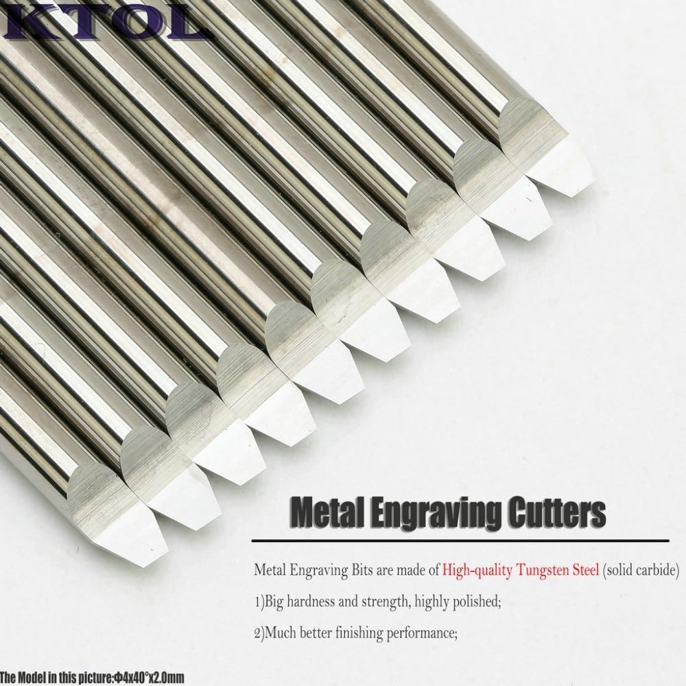 10PCS 40 Angle 4x2 0mm V PCB Cutter Carbide Router Bit CNC Engraving Tools Set Mini