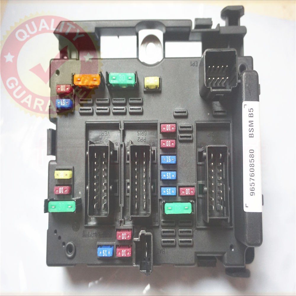 9657608580 fuse box module general system relay controller body control for peugeot 206 cabrio 307 cabrio [ 1000 x 1000 Pixel ]